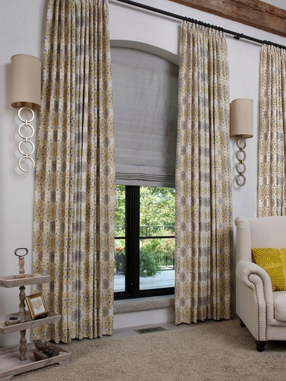 римская штора и портьера