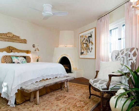 светло-розовый тюль для спальни