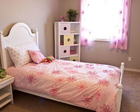розовые тюлевые занавески для девочки