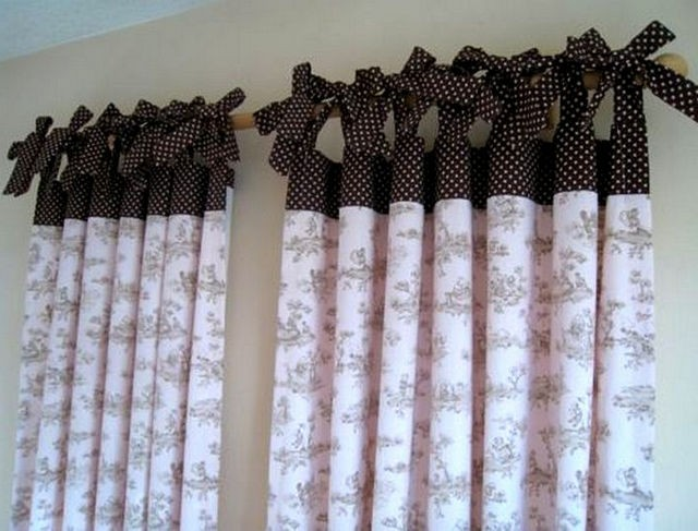 шторы с бантиками