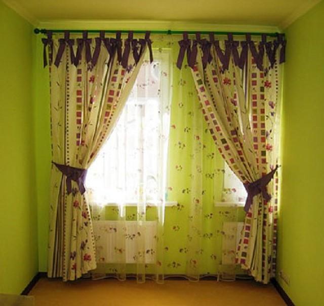 шторы на лентах завязках
