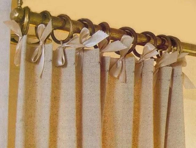 шторы на шелковых ленточках