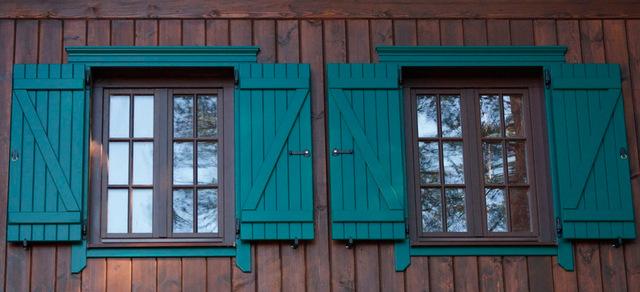 деревянные ставни