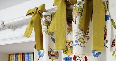 шторы на лентах-завязках