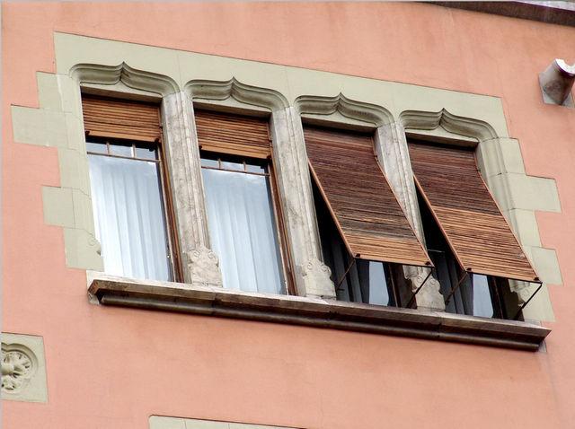 деревянные ролетные ставни