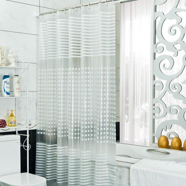 прозрачная штора в ванной