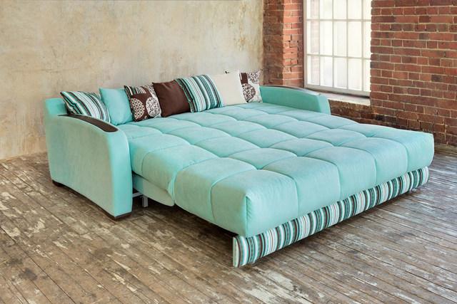 раскладной диван бирюзового цвета