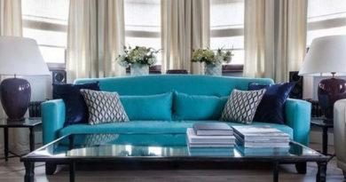 диван бирюзового цвета