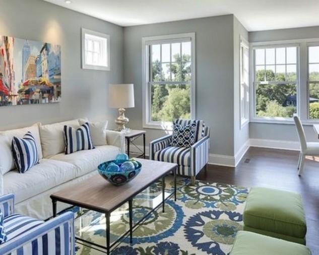 белый диван в интерьере