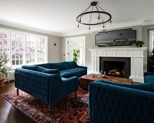 темно-бирюзовый диван