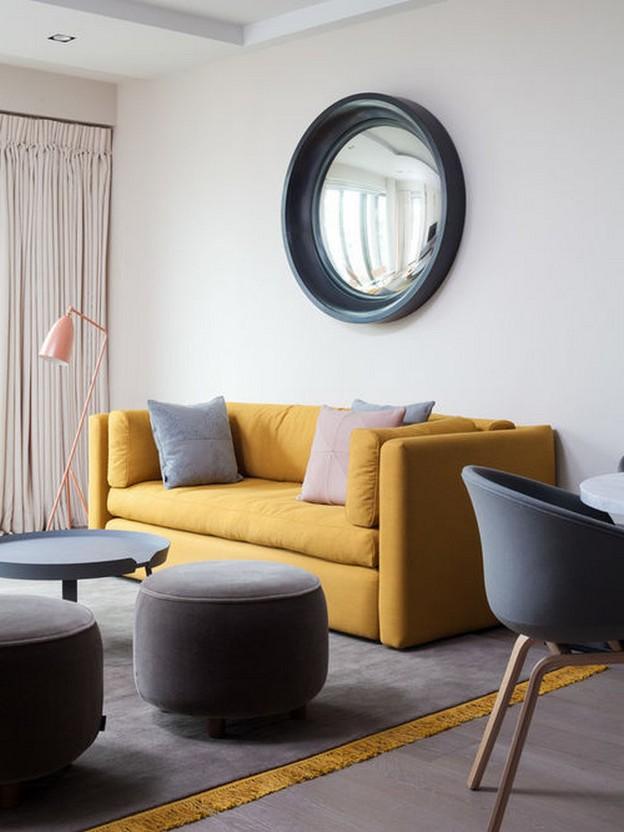 желто-серая мебель