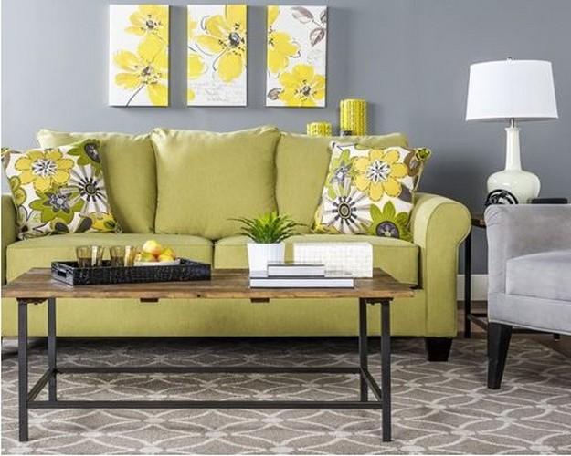 диван болотного цвета