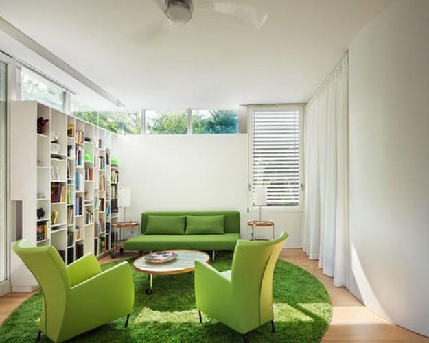 диван зеленого цвета в стиле модерн