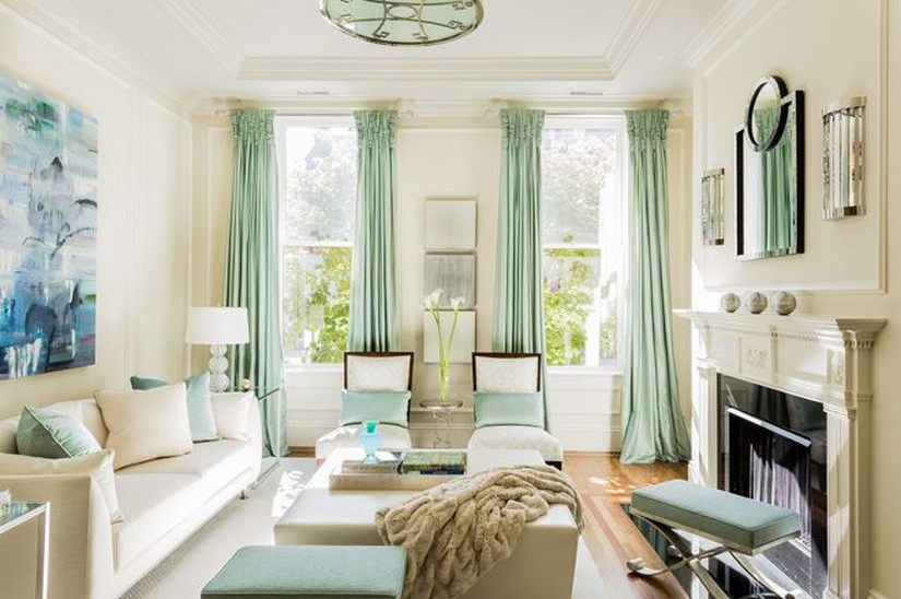 светло-зеленая гостиная