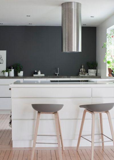 скандинавская кухня серого цвета