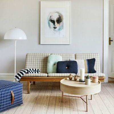 синий цвет в скандинавском интерьере