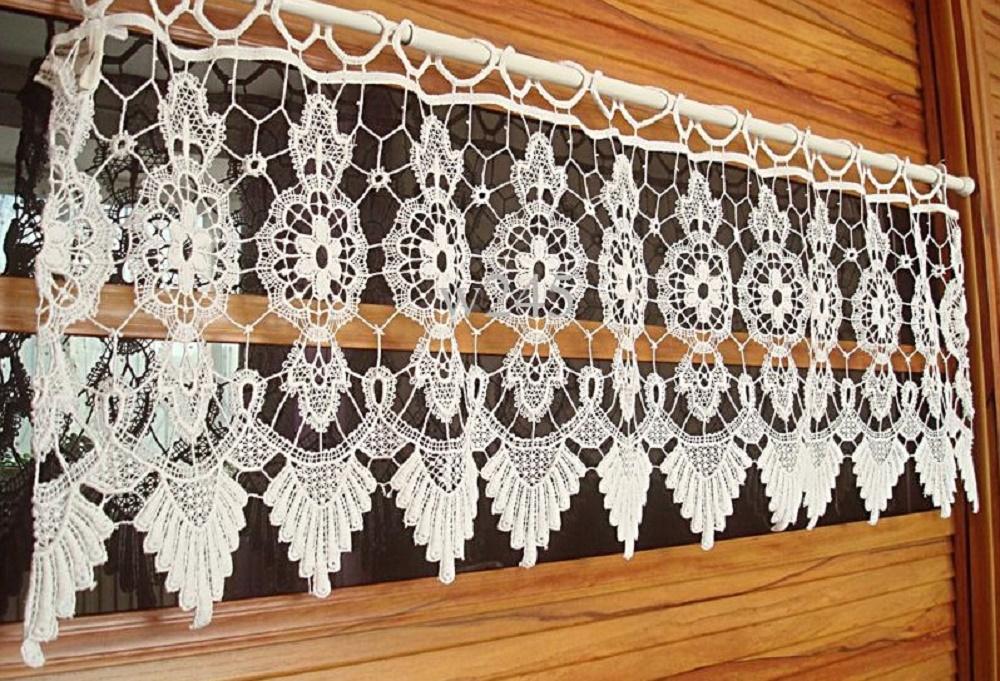 шторы вязанные крючком